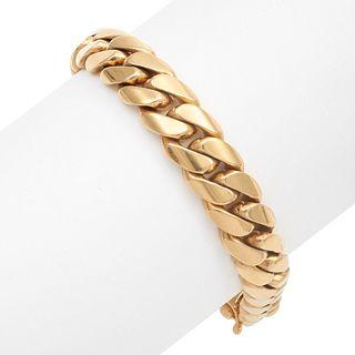 Gent's 14k Yellow Gold Curb Link Bracelet