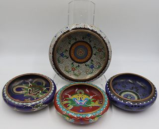 Grouping of (4) Cloisonne Bowls.