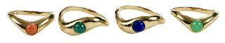 Set of Four 14kt. Rings