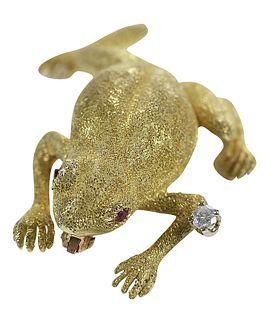18kt. Frog Brooch