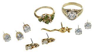 Seven Pieces Fashion Jewelry