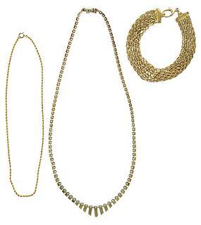 Three Gold Chains