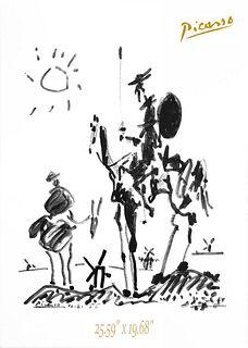 DON QUIXOTE, PABLO PICASSO ORIGINAL LITHOGRAPH COA/1955