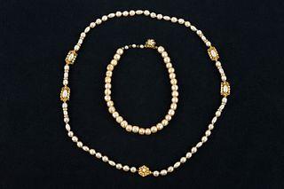Vintage Miriam Haskell Pearl Necklaces