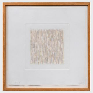 Sol Lewitt (1928-2007): Lines Not Straight, Not Touching, Four Colors