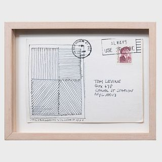 Sol Lewitt (1928-2007): Postcard