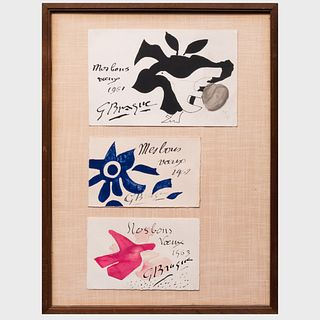 Georges Braque (1882-1963): Three Greeting Cards