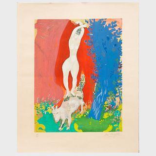 After Marc Chagall (1887-1985): Femme de Cirque