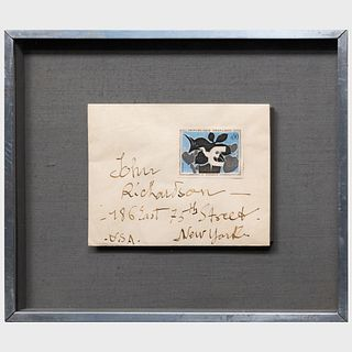 After Georges Braque (1882-1963): Postage Stamp of The Messenger