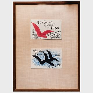 Georges Braque (1882-1963): Two Greeting Cards