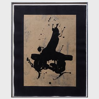 Robert Motherwell (1915-1991): Black on Black
