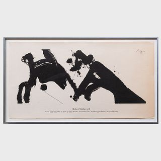 Robert Motherwell (1915-1991): Brooke Alexander Poster