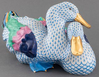 Herend Painted Porcelain Ducks