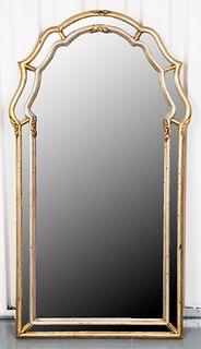Italian Rococo Style Silver-Giltwood Mirror