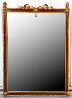 Neoclassical Style Parcel Giltwood Mirror