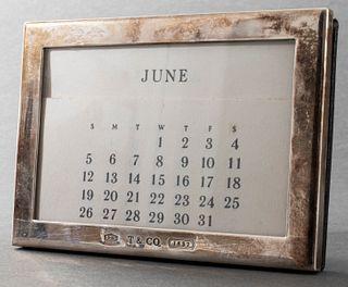 Tiffany & Co. Sterling Silver Frame Desk Calendar