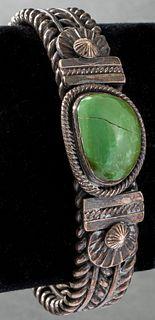 Gary Reeves Navajo Silver Turquoise Bracelet