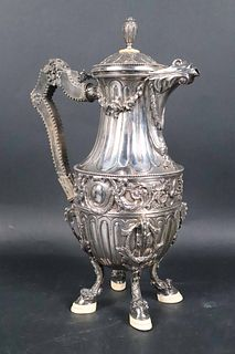 Early 19th C. Country French Silver Coffee Pot