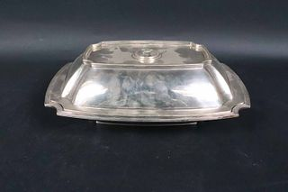 Tiffany Sterling Reeded Vegetable Dish and Cover