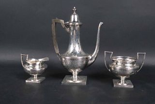 Wallace & Sons Silver Three Piece Coffee Service