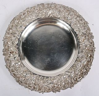 S. Kirk & Son Silver Repousse Serving Plate