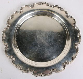 American Sterling Silver Circular Platter