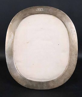 Large Tiffany Sterling Silver Oval Picture Frame
