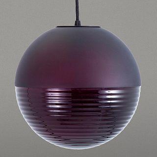 Sebastian Herkner para PULPO. Lámpara de techo Stellar Pendant grande color berenjena 40 cm. / 15'' aubergine Stella lamp