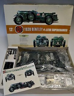 Airfix 1930 Bentley 4 1/2 litre Supercharged in 1/12th scale, un-started complete with instructions.