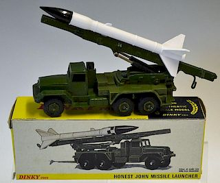Dinky Toys No 665 Honest John Missile Launcher in excellent condition including original box