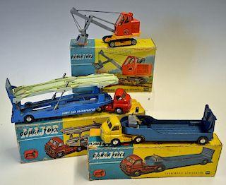 Selection of Corgi Commercial Vehicles 1101 Carrimore Car Transporter, 1128 Priestman Luffing Shovel