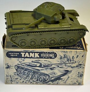 British made Friction Sparking Centurion Tank with 20 pounder gun in great condition in original box