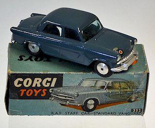 "Corgi No.352 Standard Vanguard ""RAF Staff"" Car - greyish blue, flat spun hubs, silver trim - Excelle"