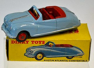 Dinky No.106 Austin Atlantic Convertible pale blue, red interior and ridged hubs with black smooth t