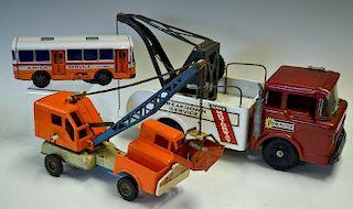 Marx large pressed steel Lorrie Powerhouse Breakdown Truck complete with Chain and Hook retaining de