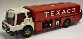 Park Plastics Co. Texaco Tanker Wagon made exclusively for Texaco, white cab, red interior, tanker b