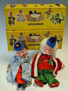 Two Pelham Puppets Larger examples the King and Queen both in great condition and in original boxes