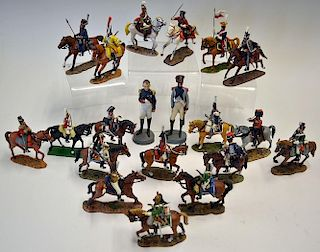 Selection of eighteen Del Prado cavalry soldier die cast figures together with a similar Britain's e