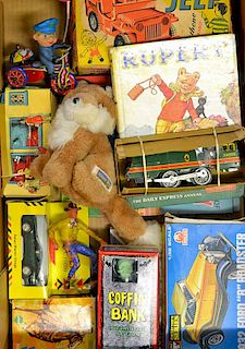 Mixed selection of toys to include Tudor Rose Jeep Boxed, Echo Wild West Horse, Clockwork Train, Cof