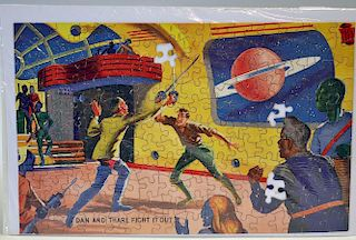"""Waddington's """"Dan Dare"""" jigsaw design No.604 - overall condition is generally good (apart from missi"""