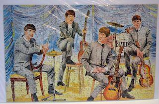 """The Beatles Jigsaw 340 Piece Puzzle 1960s puzzle by NEMS Enterprises Ltd, 17"""" x 11"""", complete, in Fa"""