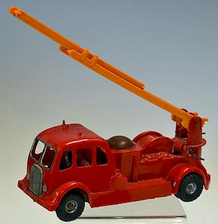 Tri-ang Minic Friction Fire Engine by Lines Brothers Ltd working having movable Ladders and Front Ax