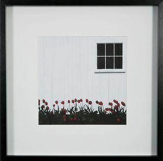 Richard Hoyer, Tulips and Barn