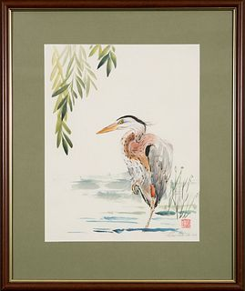 Sharon Smith Viles, Young Heron and Willow