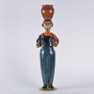 Marvin Bailey Folk Pottery Statue