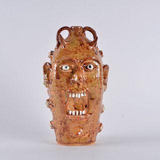 Marvin Bailey Eyeball Devil Face Jug