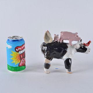 Lynn Bailey Folk Art Cow Figural