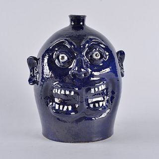 Marvin Bailey Double Mouth Face Jug