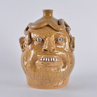 Marvin Bailey Snake face jug
