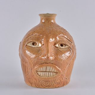 Winton and Rosa Eugene Face Jug (African American)